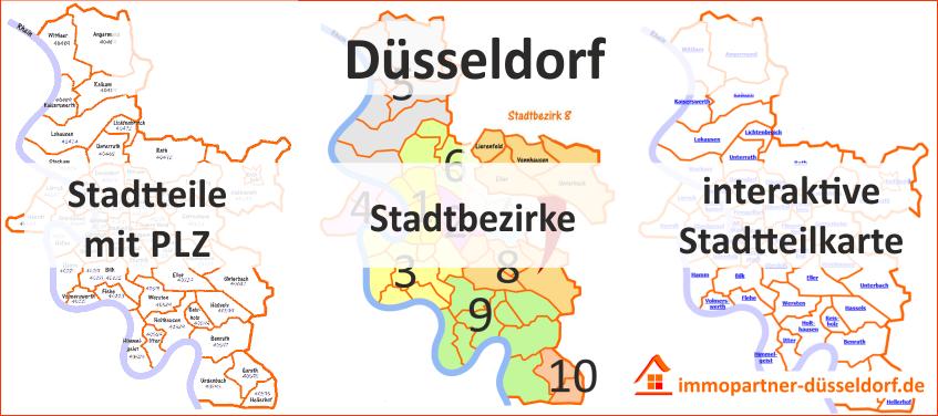 postleitzahlen düsseldorf karte Postleitzahlen   Immobilien Info Blog von immopartner duesseldorf