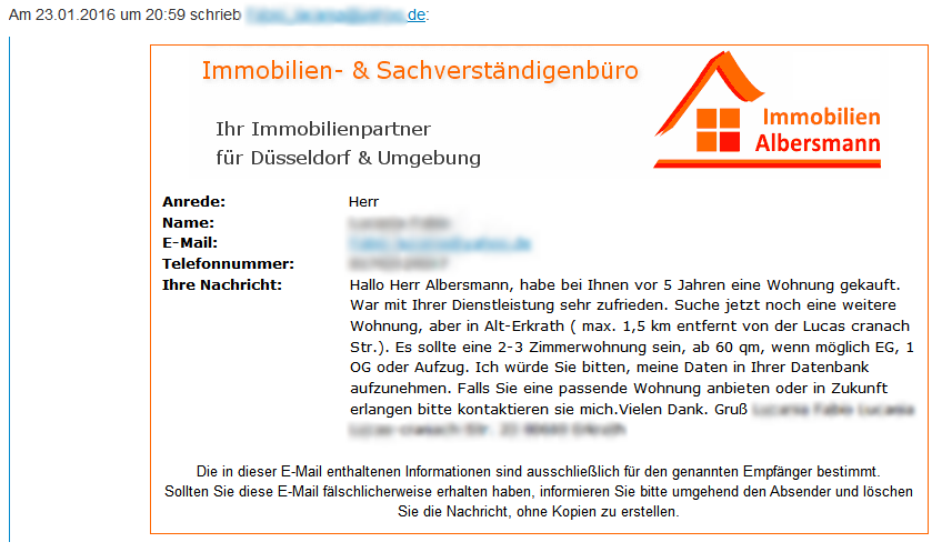 Immobiliengesuch